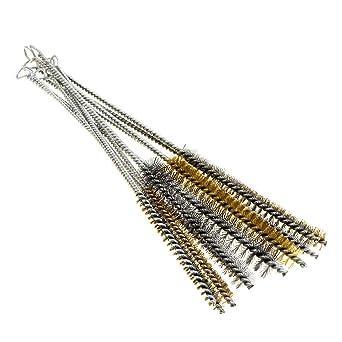 Amazon.com: YXQ Kit de 12 piezas de cepillo de tubo de acero ...
