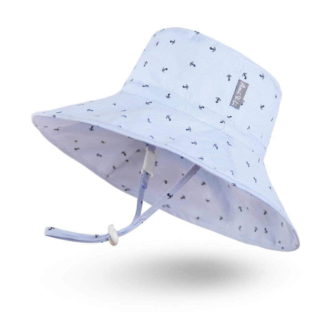 Ami&Li tots Adjustable Sunscreen Bucket Sun Protection Summer Hat for Baby Girl Boy Infant Kid Toddler Child UPF 50 by Ami&Li tots