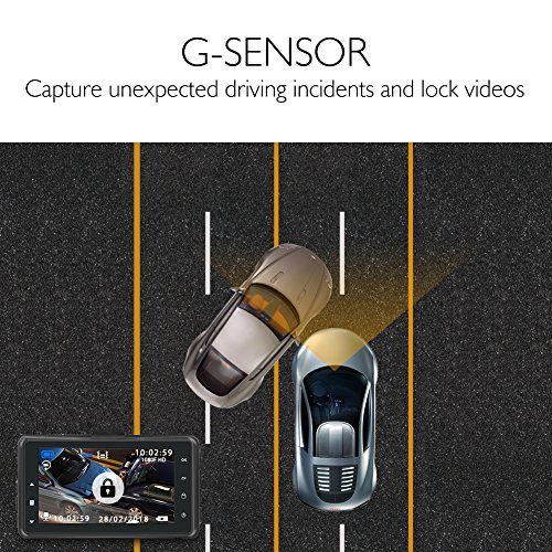 Updated Version AKASO Dash Cam Car Dashboard Camera Recorder with 1080P Full HD 3quot LCD Screen 170194176 Wide Angle Lens Loop Recording Night Vision C200