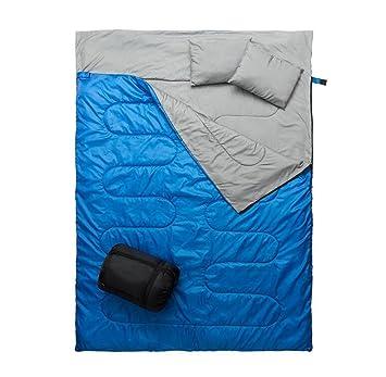 CRMM Doble Saco De Dormir Saco De Dormir Para Acampar - 3 Estaciones Clima Cálido Y