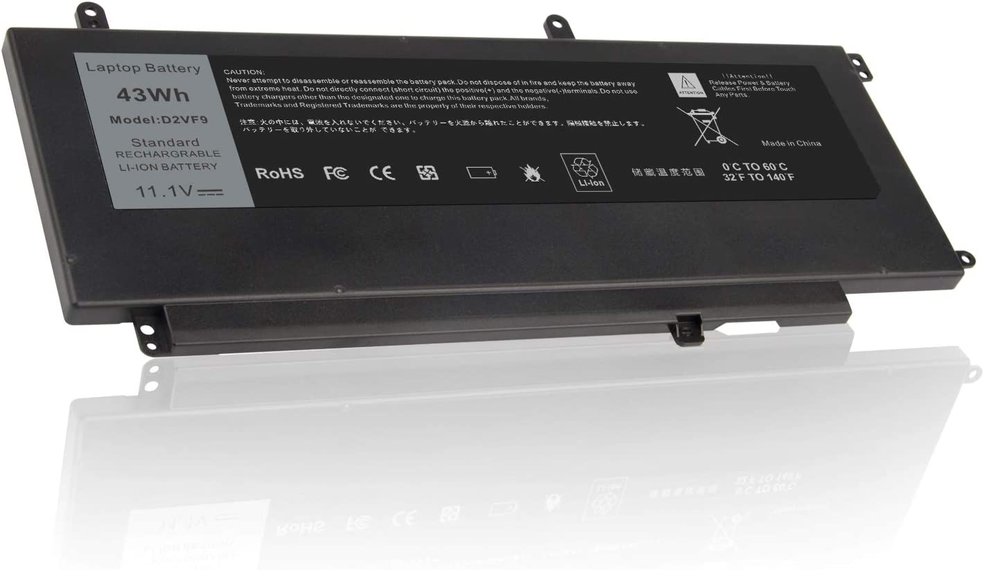 D2VF9 Battery Replacement for Dell Inspiron 15 7547 7548 0PXR51 PXR51 11.1V 45Wh