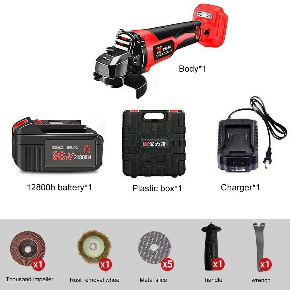 21V Brushless Cordless Grinder + 3.0Ah Rechargeable 100mm Lithium Ion + Gift Box