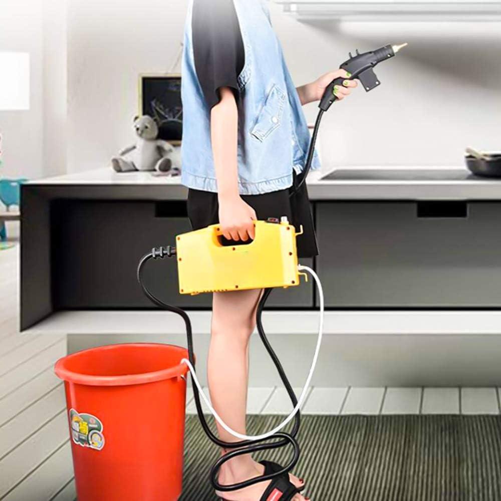 BabiQ 2600W Macchina per la Pulizia Portatile ad Alta Pressione del pulitore a Vapore ad Alta Temperatura Pompaggio Automatico Giallo Nero per la Pulizia dellautomobile della Cucina