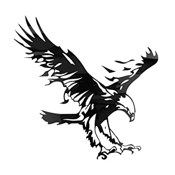 Catuo Car Stickers Eagle Owl Bird Reflective Vinyl Decals For Car - Vinyl decals for cars uk