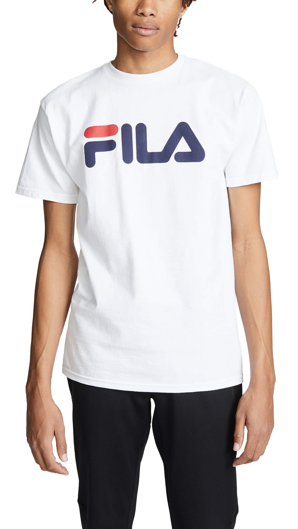 Fila Men's Printed Tee, White, Small