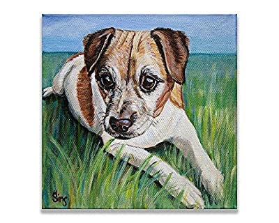 Jack Russell Terrier Dog Art Giclee Print Animal Artwork Home Wall Decor Gifts idea, size/mat option