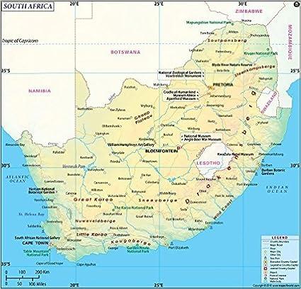 Sudafrika Karte 91 4 Cm W X 88 4 Cm H Amazon De Burobedarf