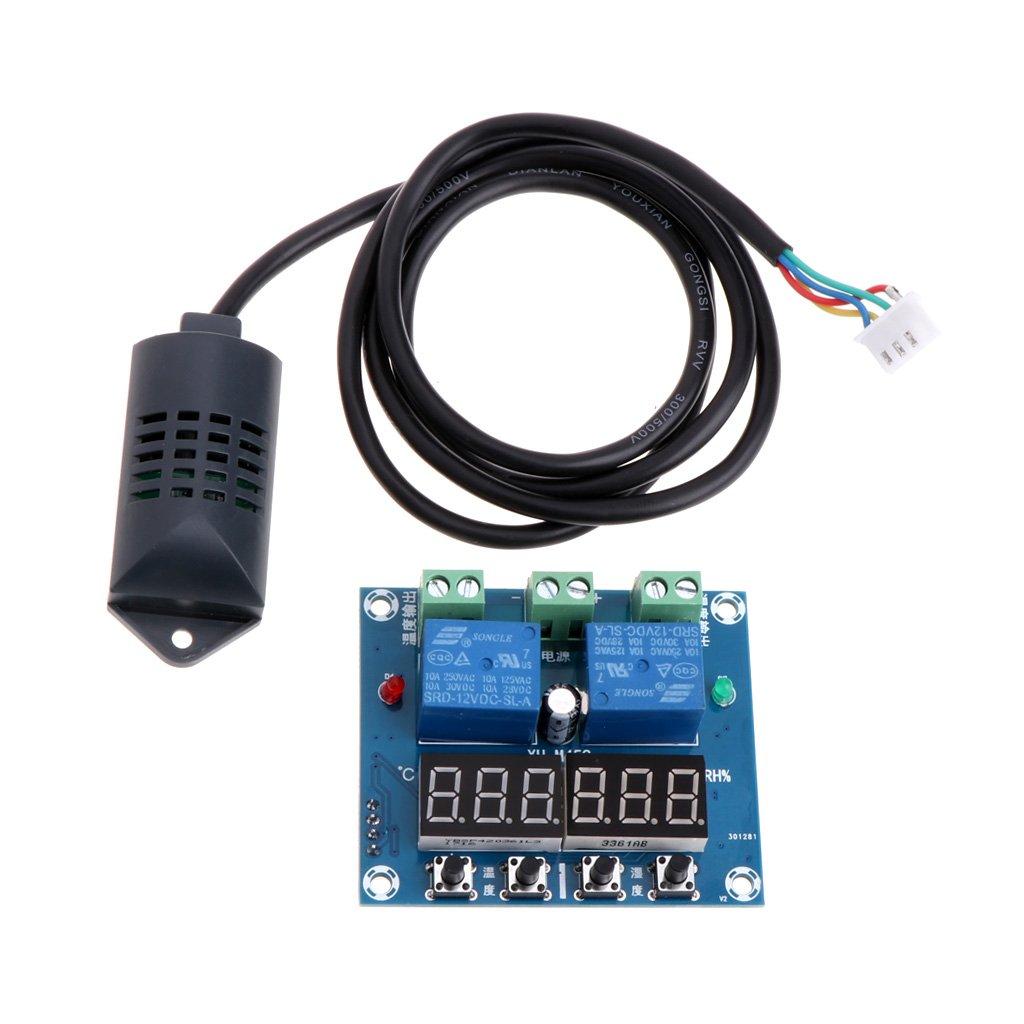 Youngy DC 12V Temperature Humidity Control Controller Thermostat Humidistat w/Sensor