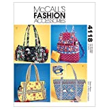 McCall's Patterns M4118 Misses' Handbags, One Size Only