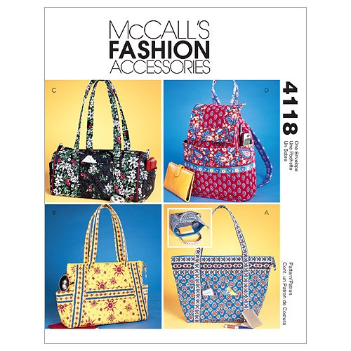 McCall's Patterns M4118 Misses' Handbags, One Size Only (Bag Quilted Patterns)