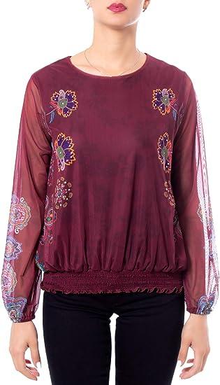 Desigual Woman t Shirt Long Sleeve ts Andora 19wwtkbw m