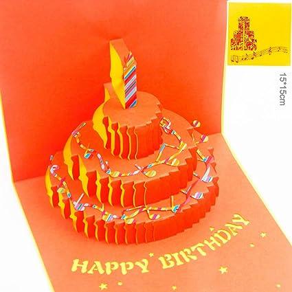 Tarjeta Cumpleaños Pop up Paper Spiritz Tarjeta Cumpleaños Amiga Sellos Personalizados Para Tarjetas 3D Día de San Valentín Happy Birthday Card Mom ...
