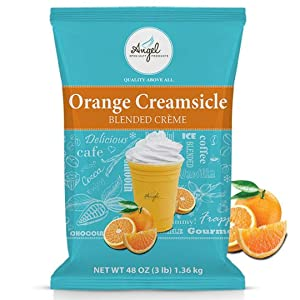 Angel Specialty Products, Blended Smoothie, Frappe Powder Mix, Orange Creamsicle [3 LB] [34 Servings]