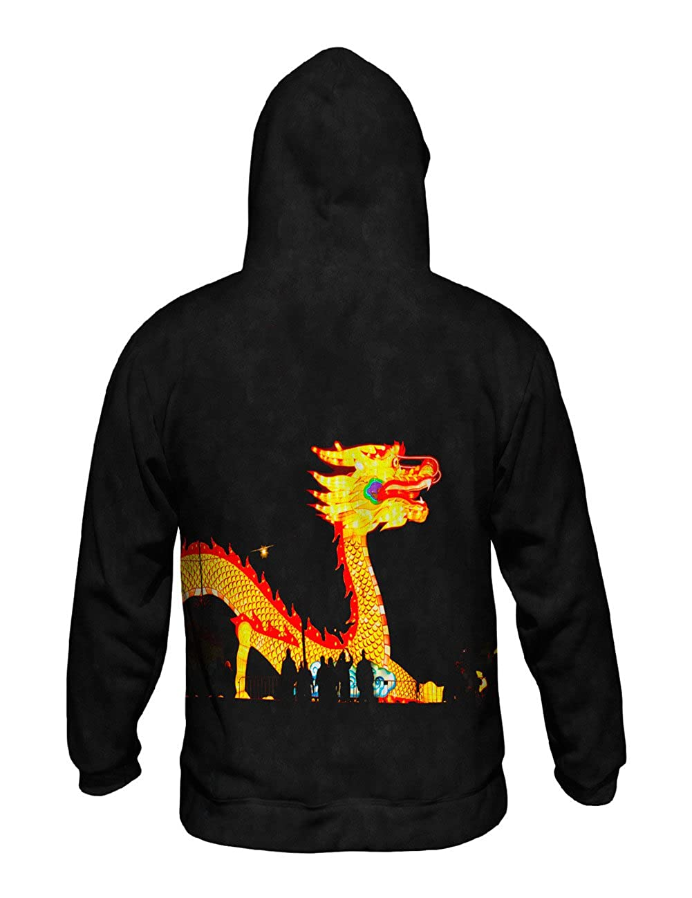 Yizzam China Festival of Lights Dragon Allover Print Mens Hoodie Sweater