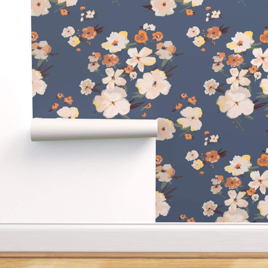Spoonflower Peel And Stick Removable Wallpaper Wildflowers Rustic