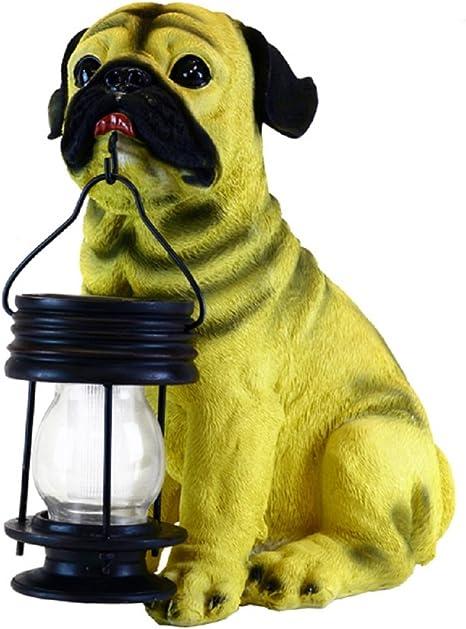 Golden Retriever//Black//German//Dalmatian//Boxer//Pug Dog With Lantern Solar Light