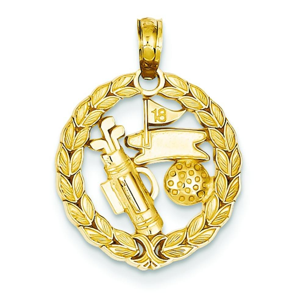 Amazon.com: 14 K oro de palos de golf bola & agujero Encanto ...