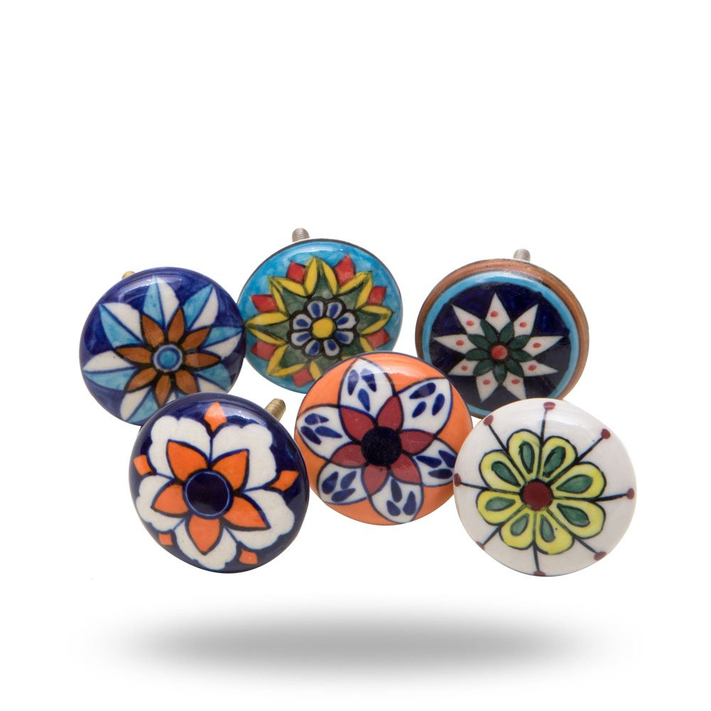 6 Tiradores de Ceramica / Porcelana (714LY7BP)