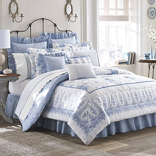 Laura Ashley Sophia Collection Twin Comforter Set - Country Bedding Sets Twin