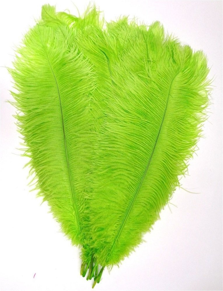 MELADY Pack of 50pcs 27~29inches Natural Ostrich Feathers Perfect for Home Wedding Party Decoration (Lime)