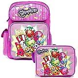 "Shopkins School Backpack Set 16"" Large Backpack with Lunch Bag"