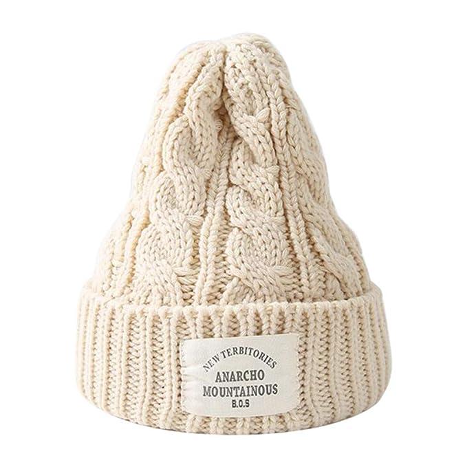 DEELIN Autunno Inverno Cupola Caldo Cappello Uomo Donne a Maglia All aperto  Uncinetto Knit Berretto 2c5c98dfb014