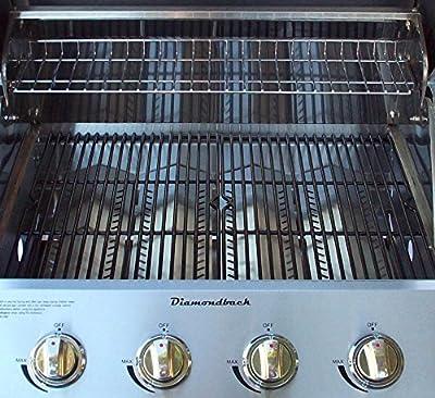 "Diamondback Built-In Grill 4 Burner Propane LP Natural Gas 26"" Drop Stainless NG"