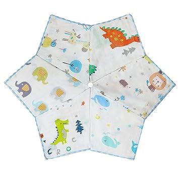 2 years old Baby bib 3 months Waterproof towel in sponge cotton and animal prints.