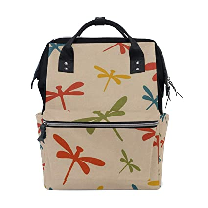 7d06df9ba660 Amazon.com  Colorful Dragonfly Pattern Diaper Bag Backpack