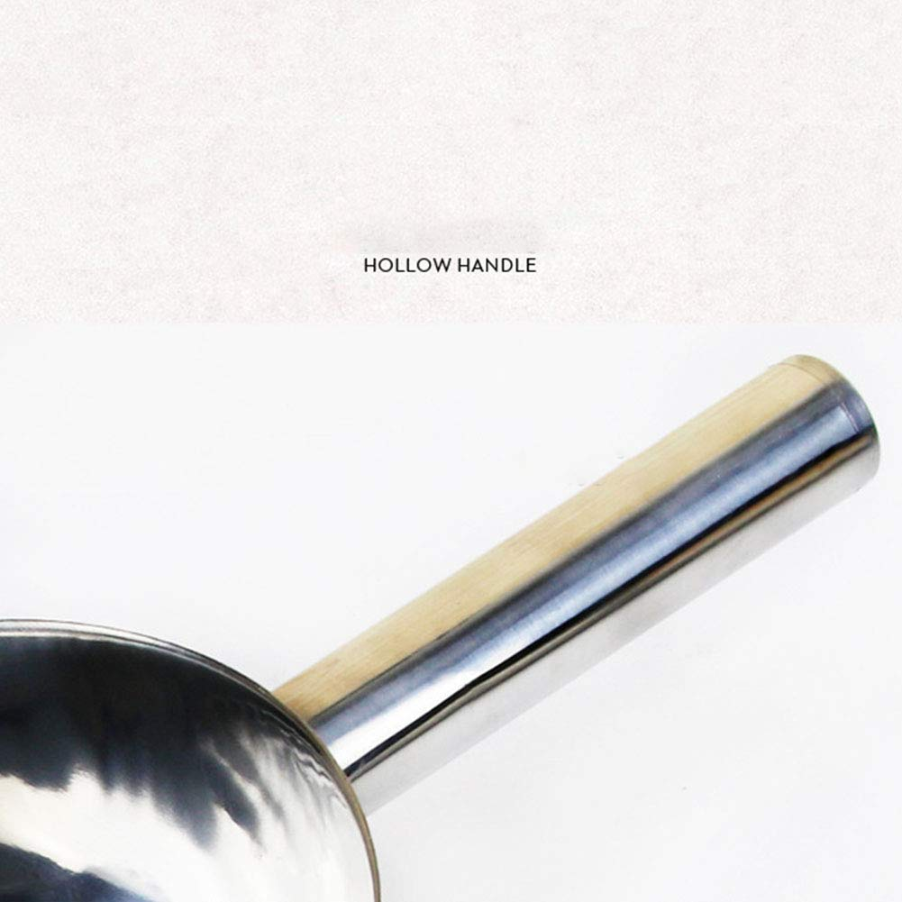 Amyove Cuill/ère /à Glace Fonctionnelle en Acier Inoxydable pour Pelle /à Glace Pelle /à Farine 8 inches