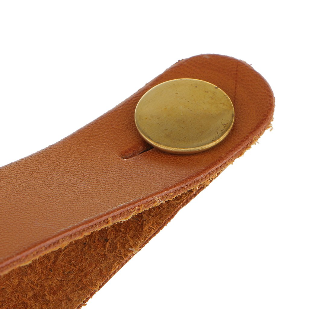 Red Microfiber Leather Button Strap Hook for Acoustic Electric Guitar Headstock Tie