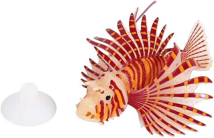 Aquarium Fish Tank Landscape Glow Simulation Animal Plants Ornaments Decorations