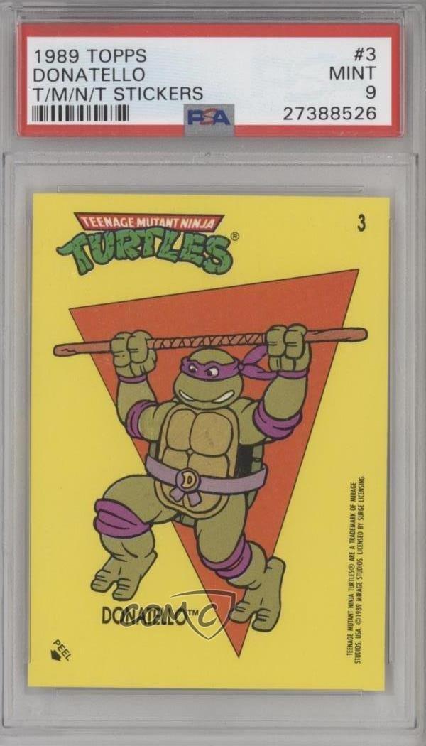 Donatello PSA GRADED 9 (Trading Card) 1989 Topps Teenage ...