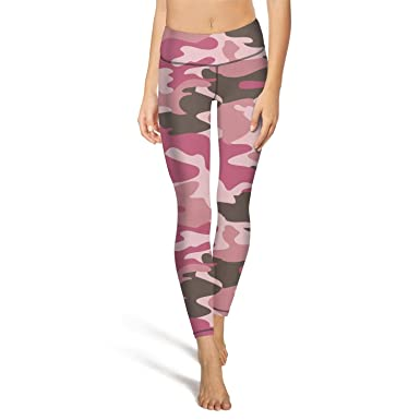 0e4f14caae99aa Mackiintion Women's Army Digital Pink camo Yoga Pants Sports Workout  Leggings Tight Running Pants