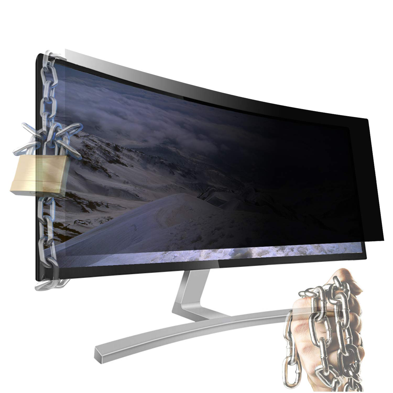Xianan 34'' inch Widescreen 21:9 Screen Filters Anti-Peeping Privacy Screen Filter Screen Protectors 31.43x13.18inch/798.2x334.8mm Radiation Anti-Glare for Computer Monitors