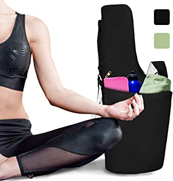 RIMSports Yoga Mat Bag - Lightweight Carrier with Hoodie and Large Size Pockets - Ideal for All Yoga Mats