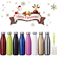 KING DO WAY Insulated Stainless Steel Water Vacuum Bottle Flask Double-walled with a Brush for Outdoor Sports Hiking Running , 500ml/18 oz