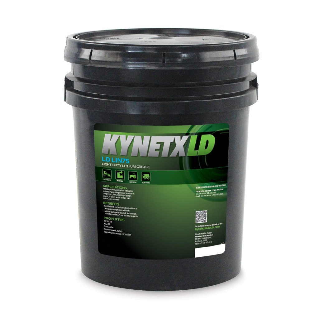 Kynetx Lithium Grease, LD LIN75, 35 Lbs. Pail, LIN75020D0-KN5015, Rust and Oxidation Inhibitors, Anti Wear Properties, Industrial, Automotive, Construction, Heavy Truck, ISO VG 150