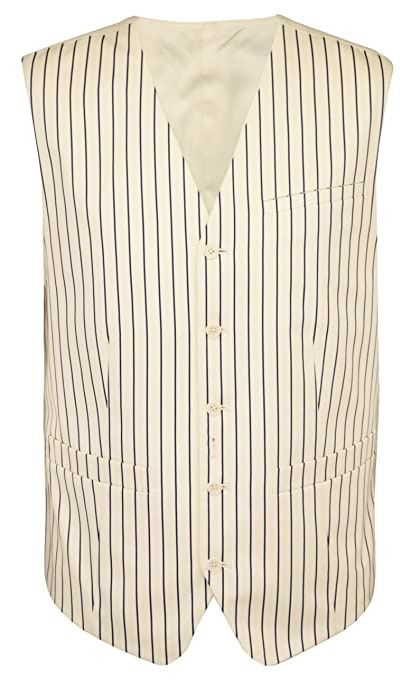 Men's Vintage Inspired Vests Pinstripe Suit Vest $90.85 AT vintagedancer.com
