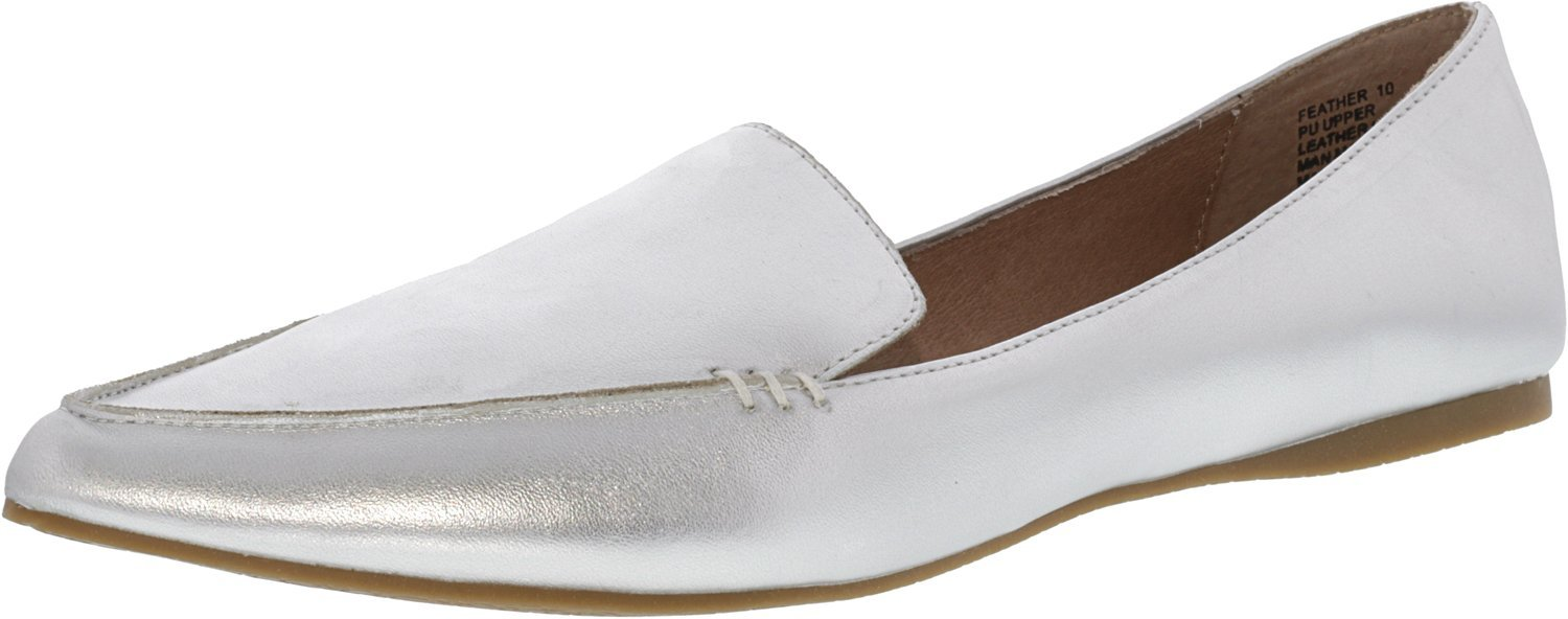 Steve Madden Women's Feather Loafer Flat B01FKWHNS4 5.5 B(M) US|Silver