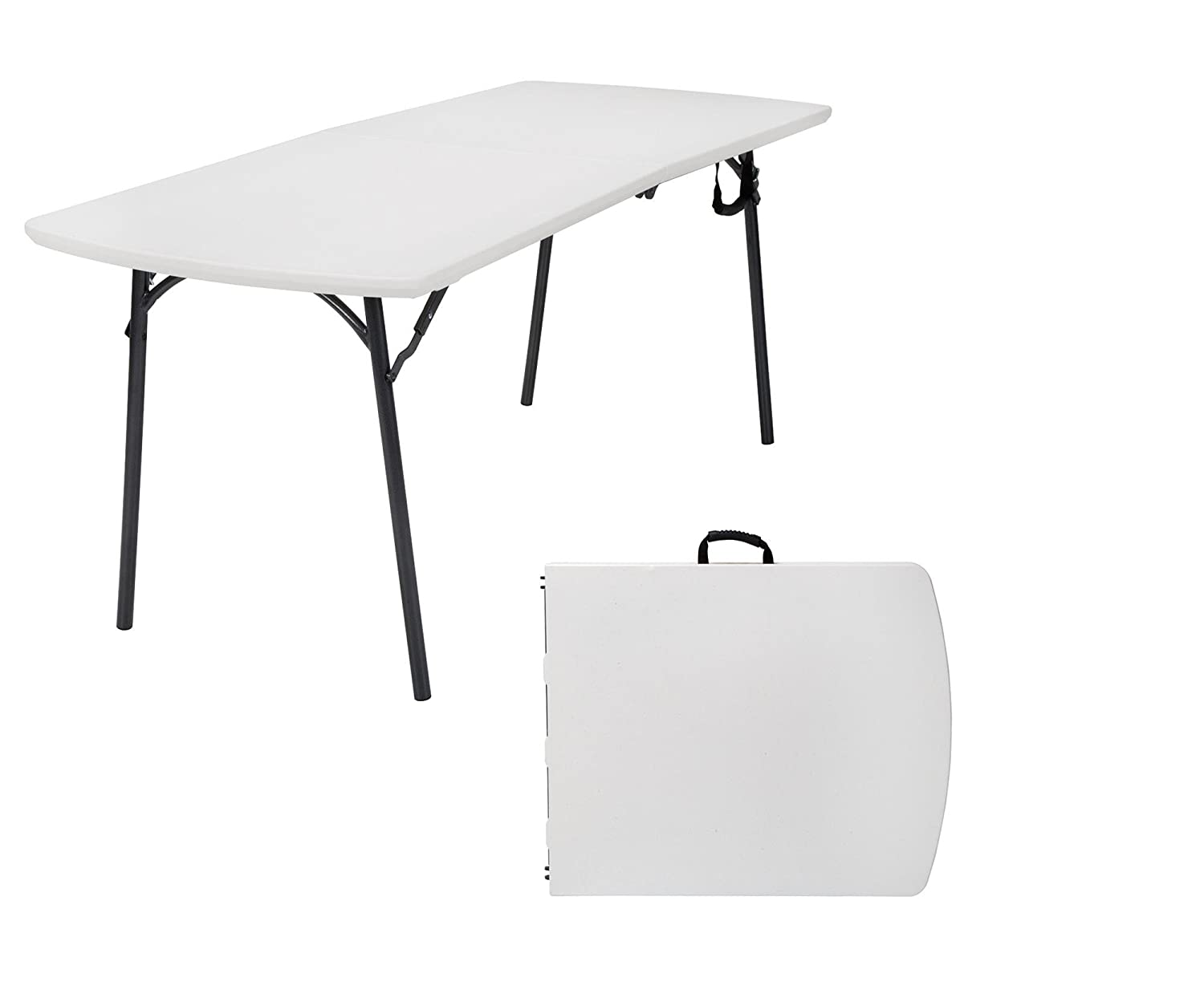 Cosco Products Diamond Series 300 lb. Weight Capacity Folding Table, 6 X 30 , White