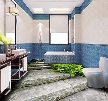 Murales Baño Personalizado Aseo Restaurante Pasillo Pintura De Piso Escalera De Pizarra Estéreo Mural De Papel Tapiz Autoadhesivo-250X175Cm,Fotomurales: Amazon.es: Bricolaje y herramientas