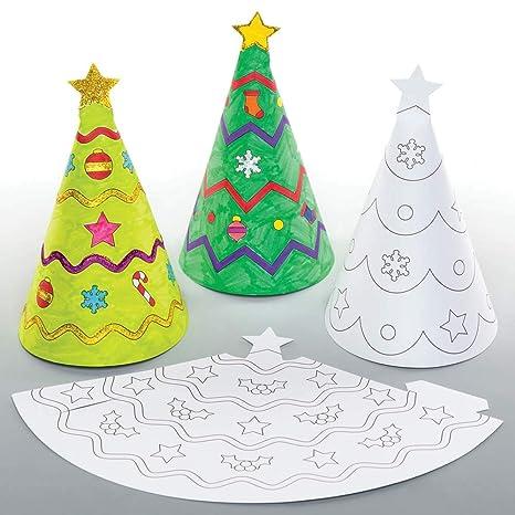 Lavoretti Di Natale 7 Anni.Baker Ross Coni Natalizi Da Colorare Lavoretti Decorativi Per
