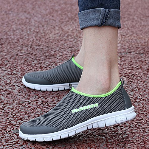 Sneakers Quick Mens Gray Sport Dark OUYAJI Shoes Shoes Park Garden Lightweight Aqua Walking Water Beach Dry Womens cgTcqywAH