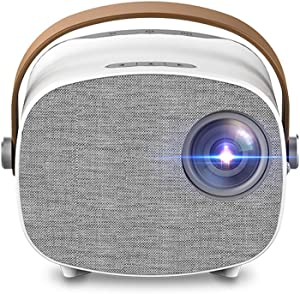 HONUTIGE Mini Projector, 1080P HD Projector Portable Video Projector Home Theater with Carry Handle, for Living Room Bedroom Home Entertainment - Supprt 23 Languages