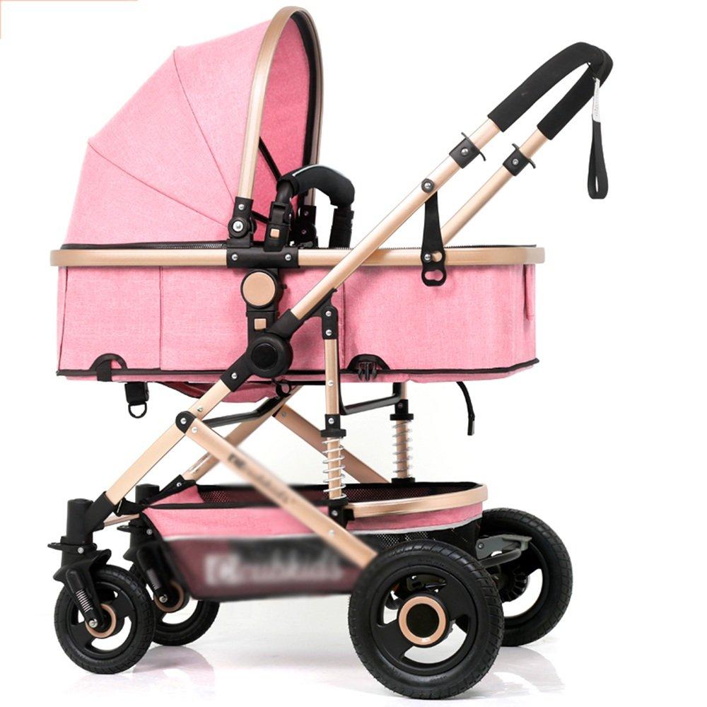LVZAIXI 3 In 1ベビージョギングトラベルバギーキッズのベビーカー 異なる色 ( 色 : ピンク ぴんく ) B07C792FNZ ピンク ぴんく ピンク ぴんく