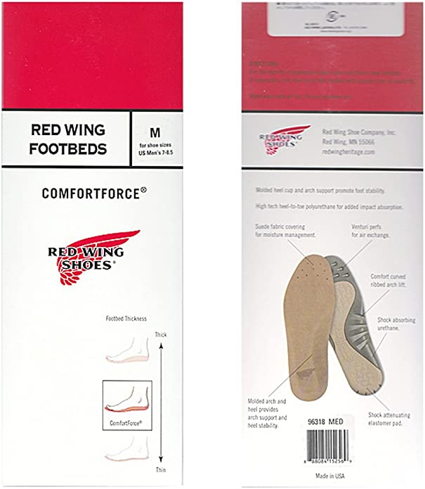 RED WING Comfort Force Insoles 96318 Size 7 for Red Wing shoes//boots NEW