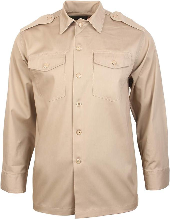 A. Blochl EEUU Camisa De Manga Larga Caqui (XX-Large): Amazon.es: Ropa y accesorios