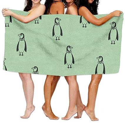 Fedso Pingüino Toallas de Playa Ultra absorbentes de Microfibra Toalla de baño de Picnic Alfombrilla para