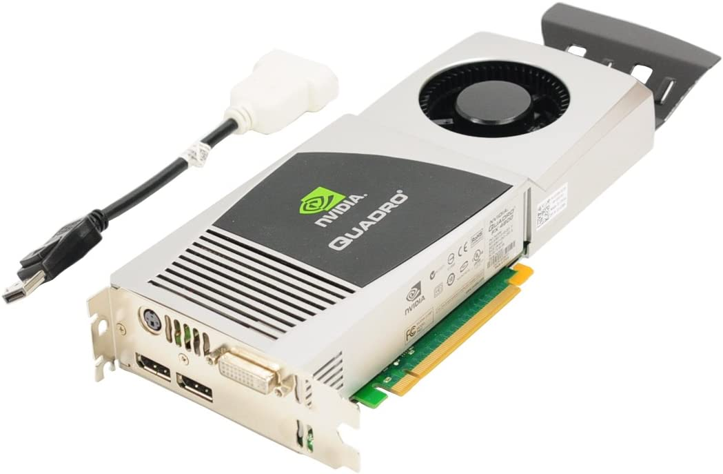 Genuine Dell 1G28H Y451H NVIDIA Quadro FX 4800 1.5 GB GDDR3 PCI-E PCI-Express 2.0 x16 DVI DisplayPort Full Height Graphics Video Card Compatible Part Numbers: 1G28H Y451H